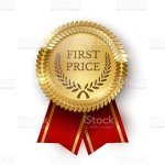 Medallion Seal Ribbon For First Price Offer Design Stock Illustration Download Image Now Istock
