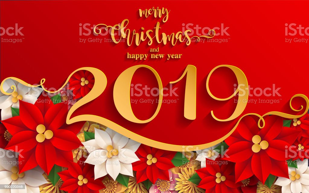 Merry Christmas And Happy New Year 2019 Background