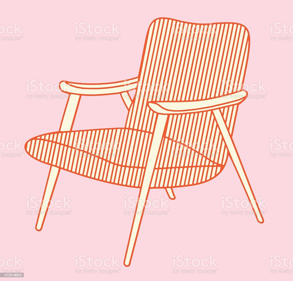Midcentury Modern Chair Stock Illustration Download Image Now Istock