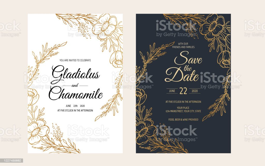 https www istockphoto com vector minimalist wedding invitation card template design template frame with delicate gm1227455662 362019648
