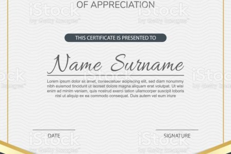 Modern Certificate Of Appreciation Template Design Stock Vector Art     Modern Certificate of appreciation template design  royalty free modern  certificate of appreciation template design