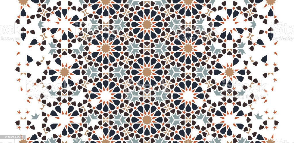 moroccan arabesque seamless vector art pattern border wallpaper texture background geometric mosaic moroccan halftone pattern with color tile disintegration stock illustration download image now istock
