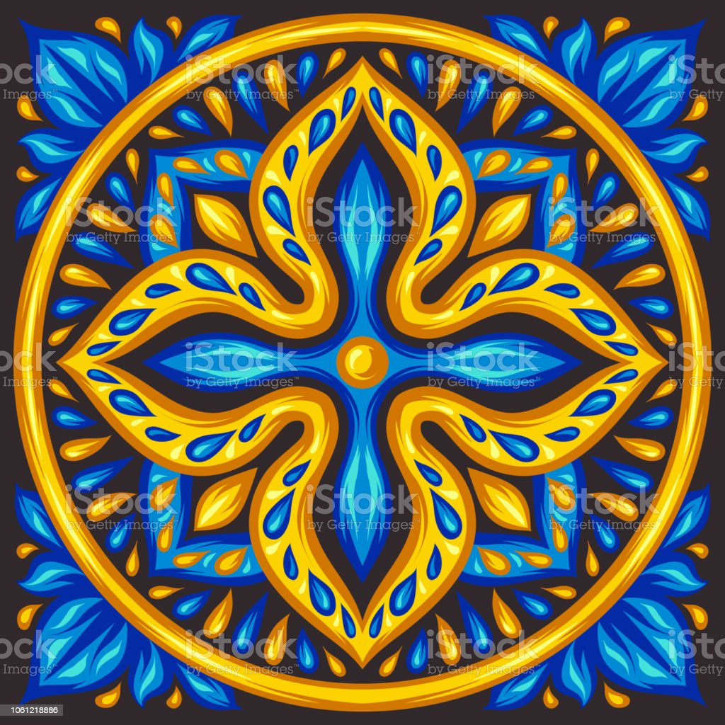 https www istockphoto com vector moroccan ceramic tile pattern gm1061218886 283683369