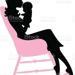 Mother Holding Baby In Rocking Chair Stock Illustration Download Image Now Istock