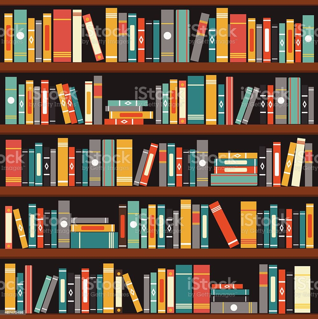 Muted Tone Vector Illustration Of Generic Books On