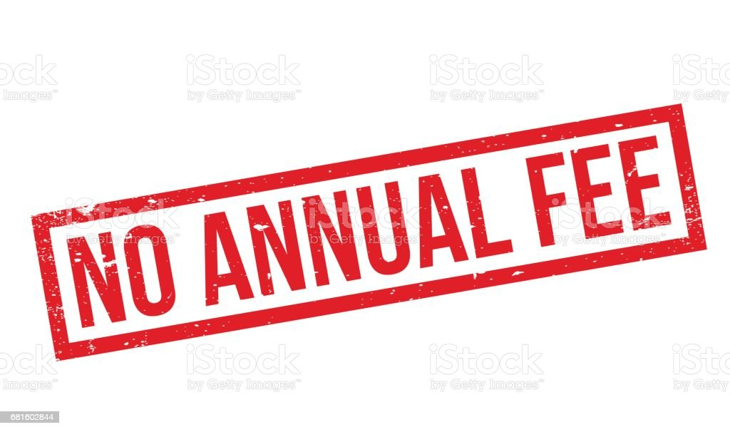 No Annual Fee Rubber Stamp Stock Illustration - Download Image Now - iStock