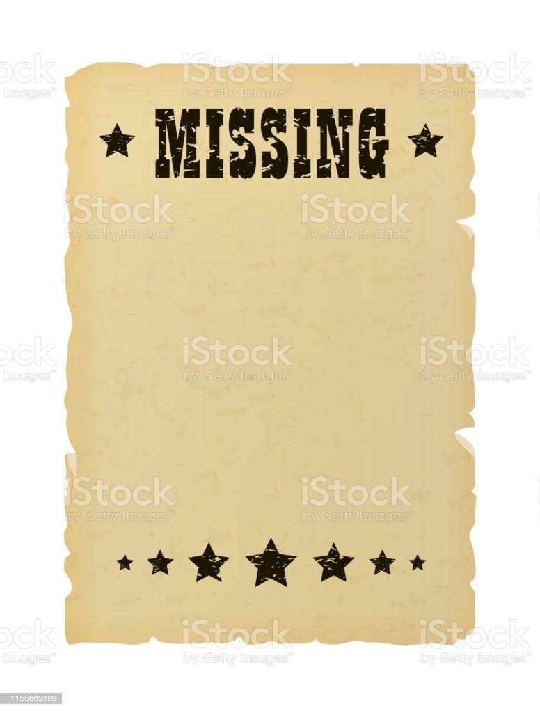 3 483 missing poster illustrations clip art istock