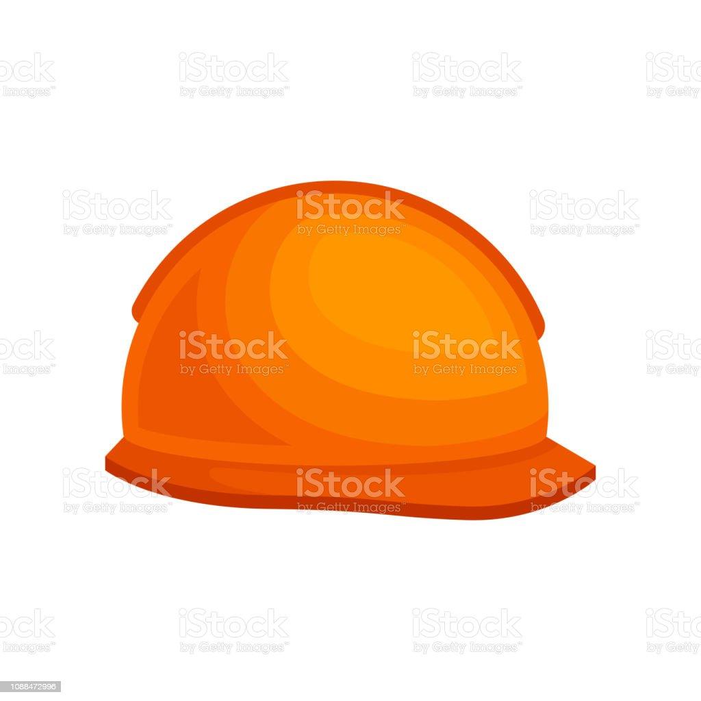 Casque En Plastique Orange Pour Le Constructeur Casques Protecteurs Pour Le Travailleur De La Construction Design Plat Vector Vecteurs Libres De Droits Et Plus D Images Vectorielles De Accessoire Istock
