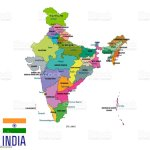 Political Map Of India With All States Stock Illustration Download Image Now Istock