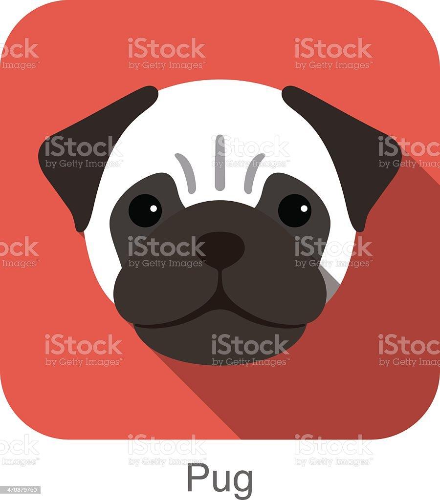 Pugs Clip Art, Vector Images & Illustrations - iStock (390 x 443 Pixel)