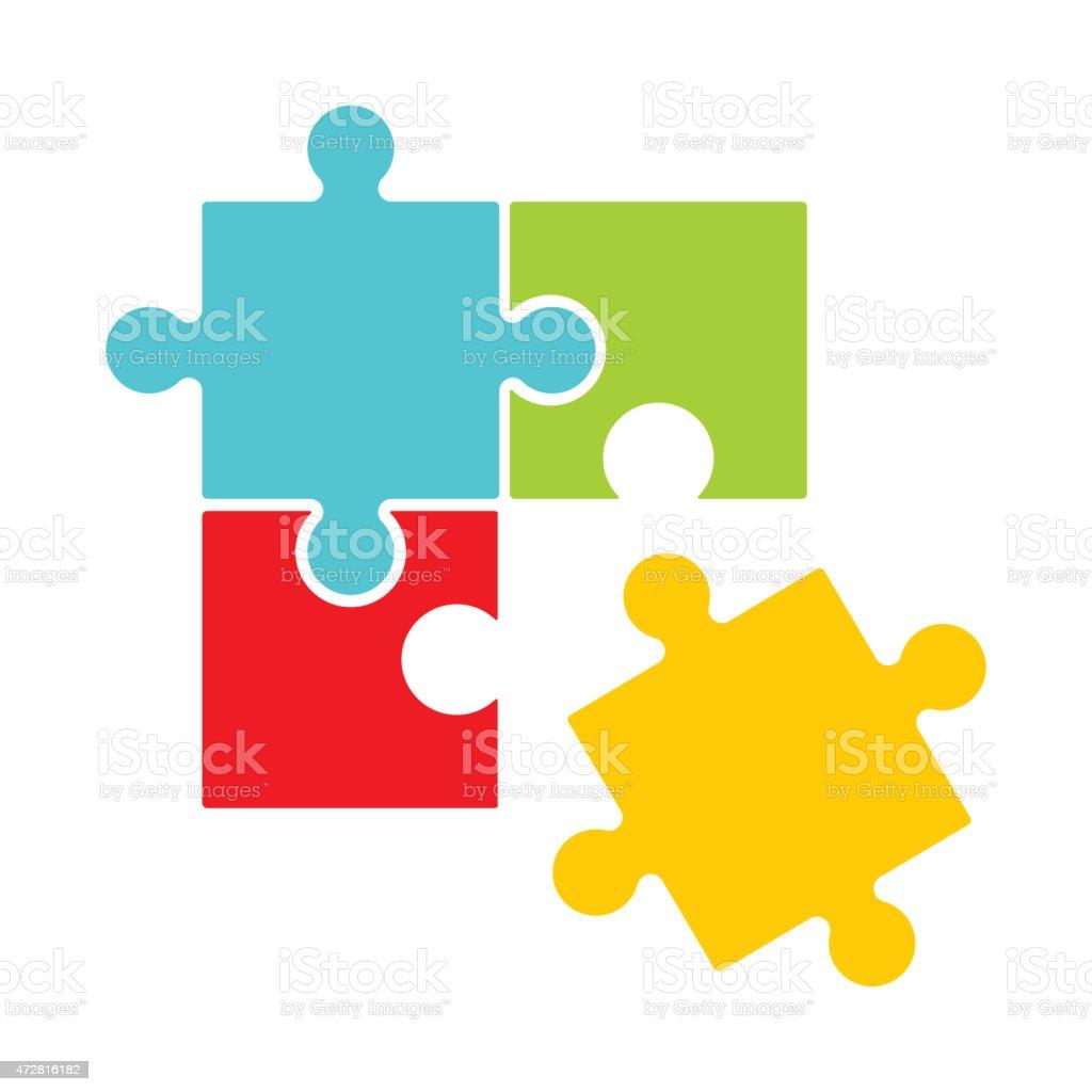 5 Piece Jigsaw Puzzle Template