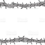 Rectangular Border Of Barbed Wire Stock Illustration Download Image Now Istock