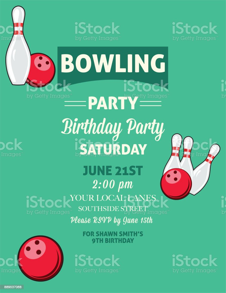 Resume Examples » Similiar Holiday Bowling Party Template Word Keywords  Invitation