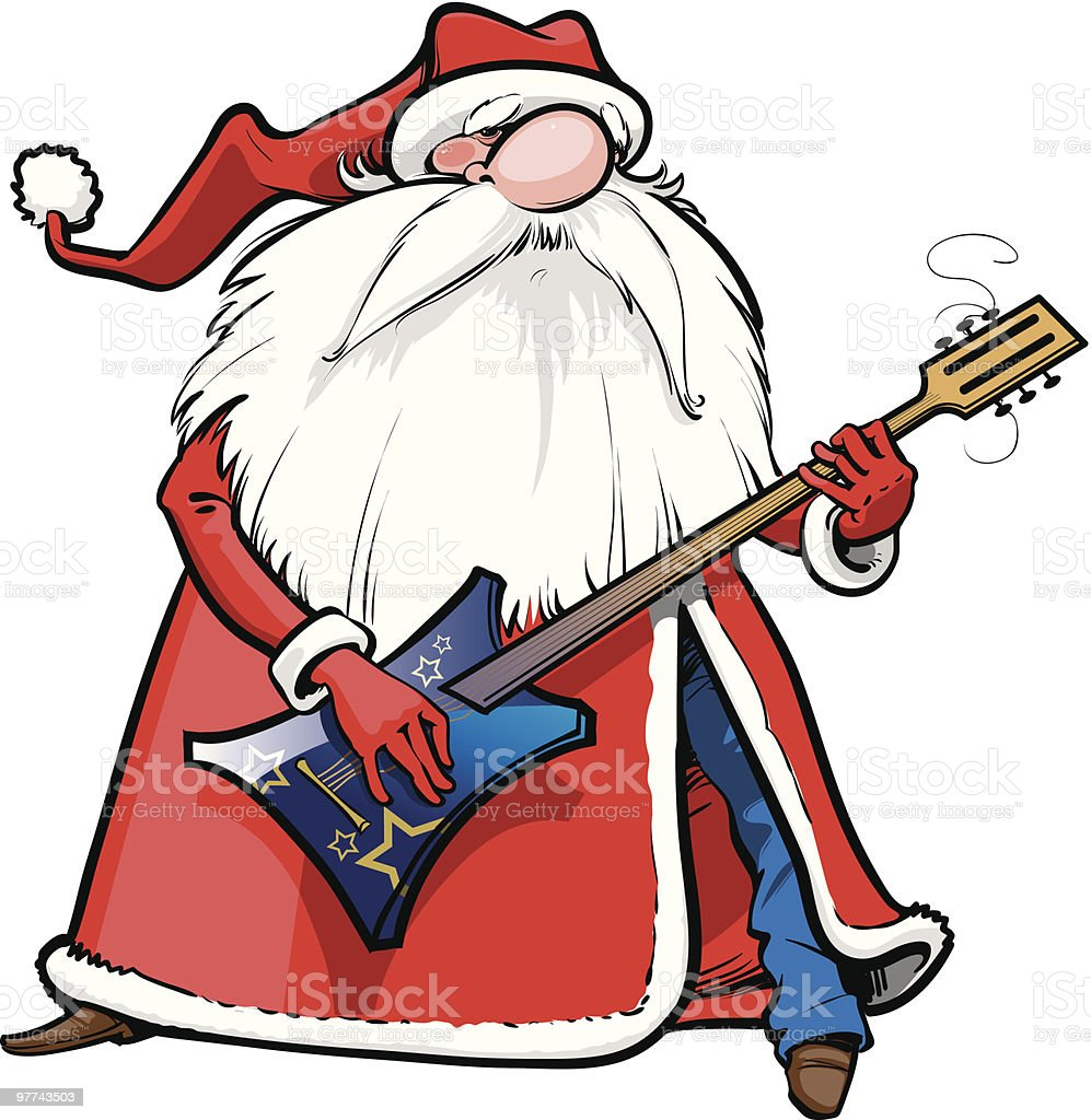 Santa With Rock Guitar Stock Vector Art 97743503 IStock