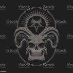 Satanischen Teufel Schadel Vektor Illustration Stock Vektor Art Und Mehr Bilder Von Abenddammerung Istock