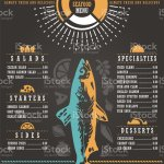 Seafood Restaurant Menu Design Stock Illustration Download Image Now Istock