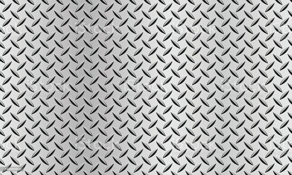 Seamless Background With A Diamond Plate Texture Stock
