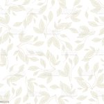 Seamless Vector Pattern With Leaves On White Background Ideal For Bedding Fabric Wallpaper Design Stock Illustration Download Image Now Istock
