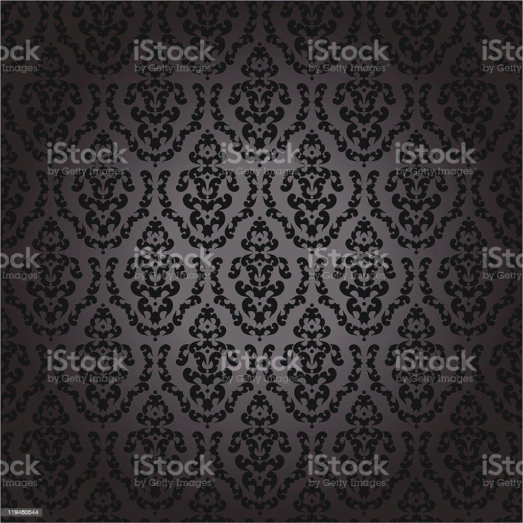 https www istockphoto com fr vectoriel sans couture papier peint baroque noir gm119460544 14446434