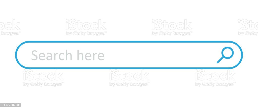 Royalty Free Search Bar Clip Art, Vector Images