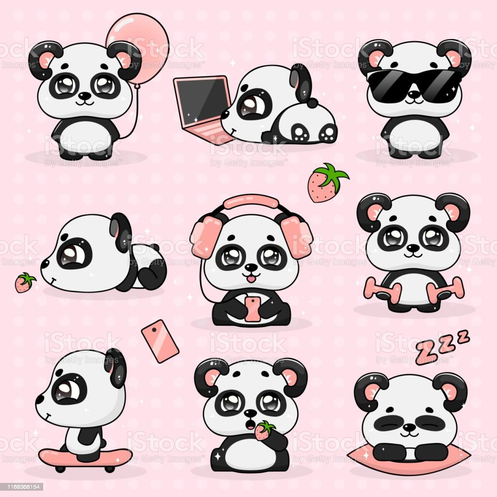 2 199 Kawaii Panda Stock Photos Pictures Royalty Free Images Istock