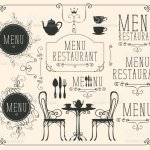 Set Of Drawings On The Theme Of Restaurant Menu Stock Illustration Download Image Now Istock