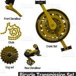 Vetores De Conjunto De Parte De Transmissao De Bicicleta De Ouro E Mais Imagens De Anel Joia Istock