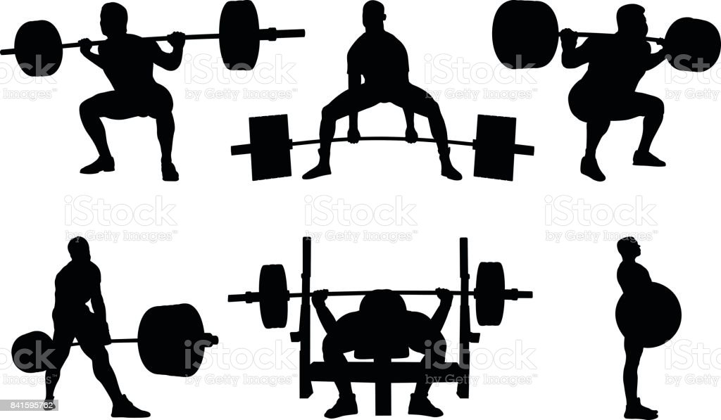 Best Powerlifting Illustrations Royalty Free Vector