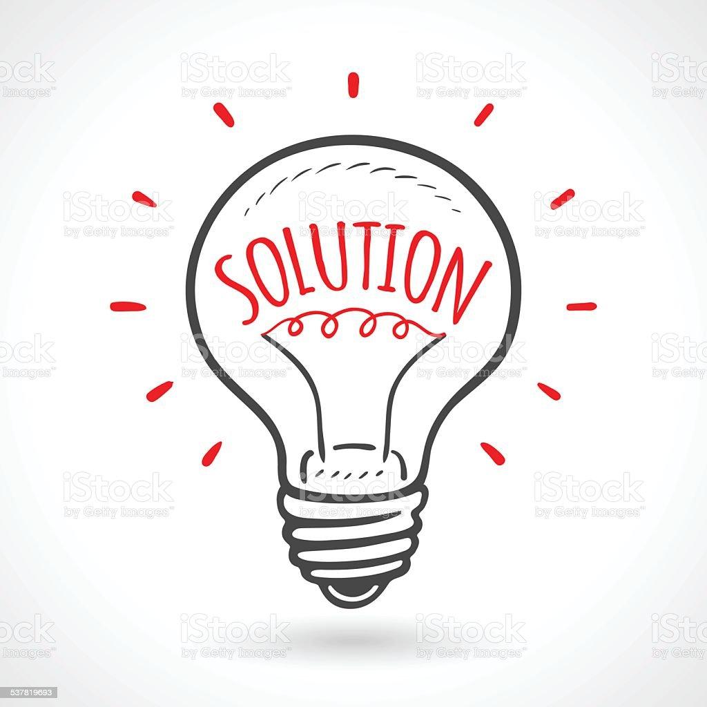 https www istockphoto com fr vectoriel solution concept id c3 a9e ampoule dessin c3 a9 c3 a0 la main gm537819693 57959040