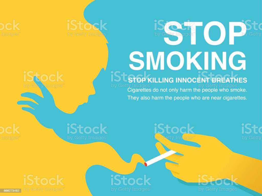 stop smoking poster stock illustration download image now istock