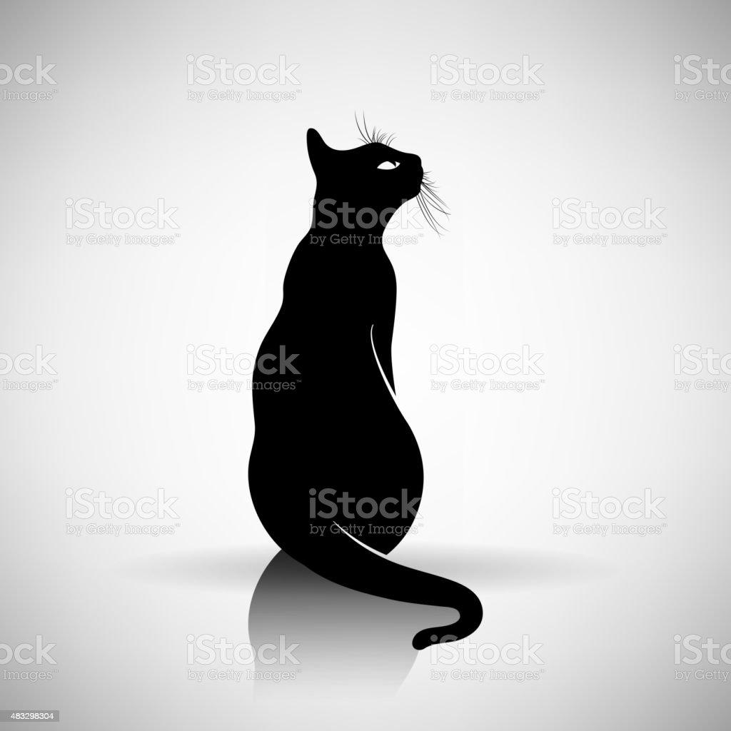 https www istockphoto com illustrations cat sitting silhouette