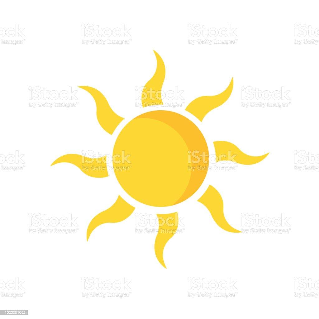 sun icone vector signe et le symbole isole sur fond blanc concept logo soleil vecteurs libres de droits et plus d images vectorielles de abstrait istock