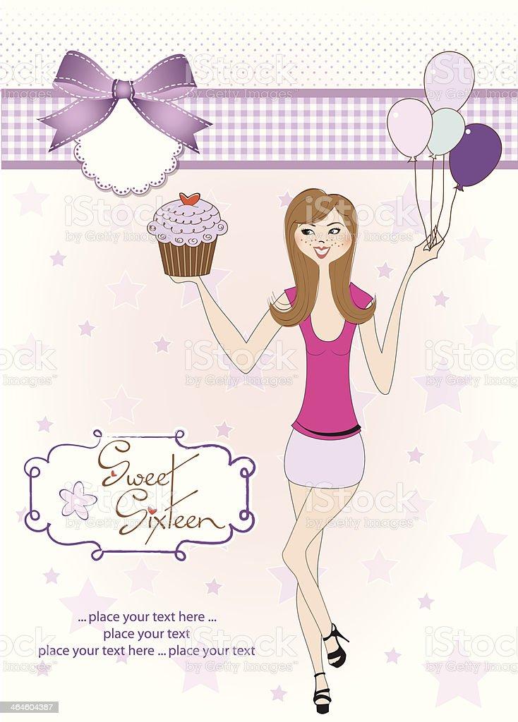 Free Sweet Sixteen Lettering Vektor Download Kostenlos Vector