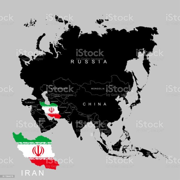 Territory Of Iran On Asia Continent Flag Of Iran Vector Illustration     Territory of Iran on Asia continent  Flag of Iran  Vector illustration  royalty free