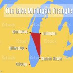 The Lake Michigan Triangle Map Stock Illustration Download Image Now Istock