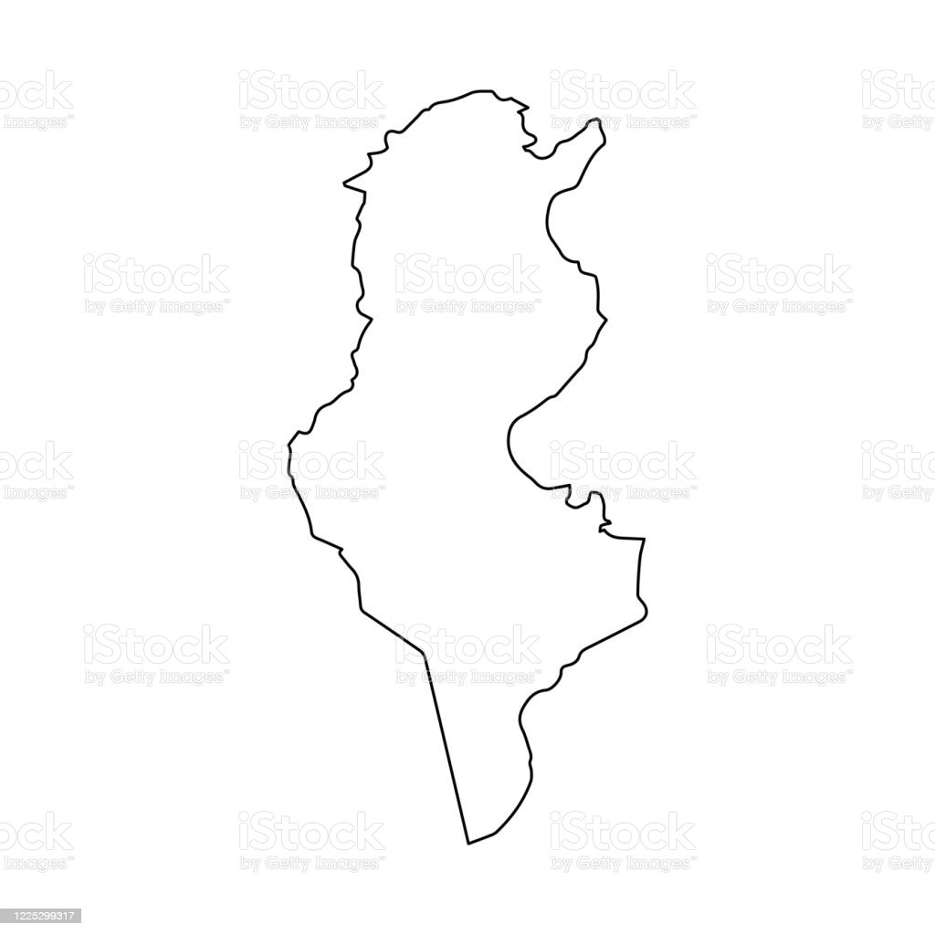 Tunisia Map Line Outline Country Africa Map Illustration Vector African Isolated On White Background Stock Illustration Download Image Now Istock