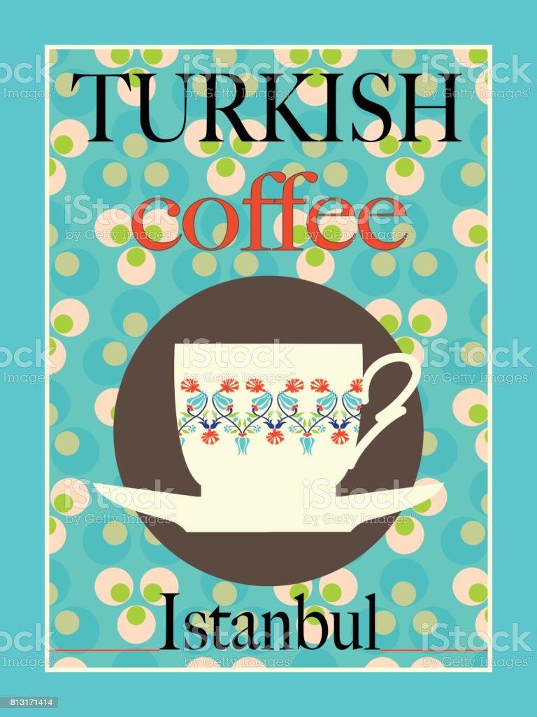 turkish coffee poster design stock illustration download image now istock