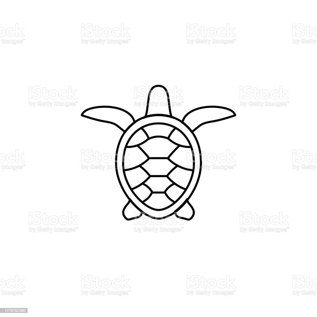modele de logo turtle icone de tortue noire sur un fond blanc vecteurs libres de droits et plus d images vectorielles de abstrait istock