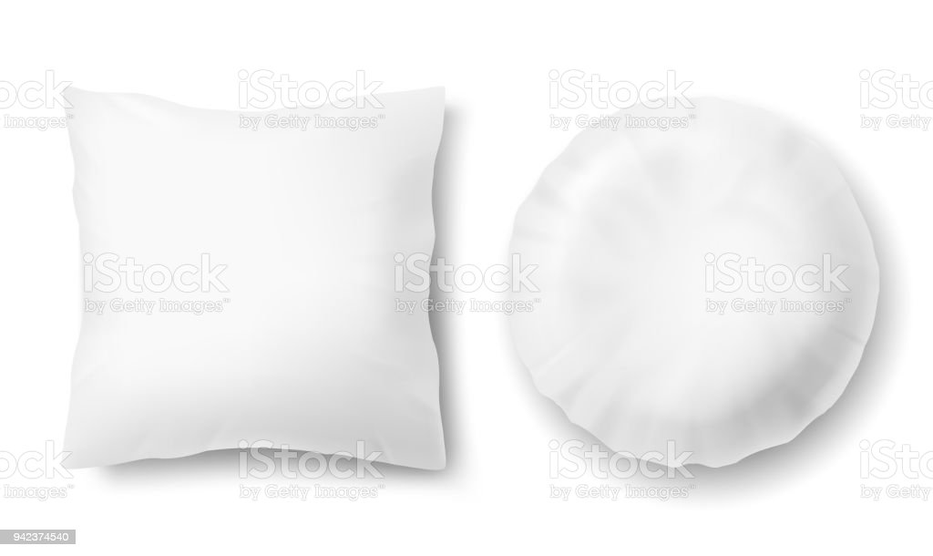 vector 3d realistic pillows square round template mockup stock illustration download image now istock