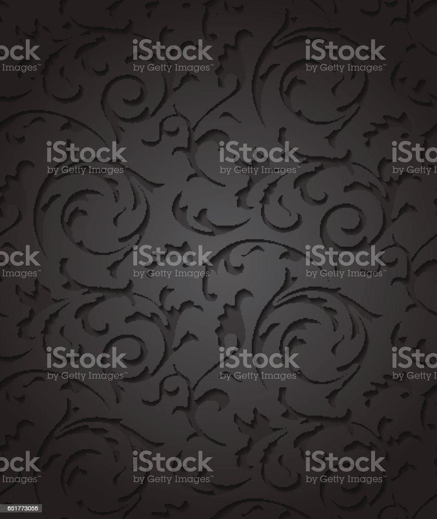 https www istockphoto com fr vectoriel vector baroque damass c3 a9 c3 a9l c3 a9gant fond noir c3 a9l c3 a9ment floral fonc c3 a9 mod c3 a8le de luxe pour gm651773056 118529043