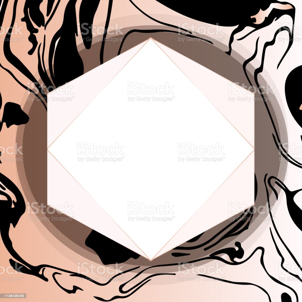 vector black and rose gold design template for party invitation web banner birthday wedding business card abstract golden background stock illustration download image now istock