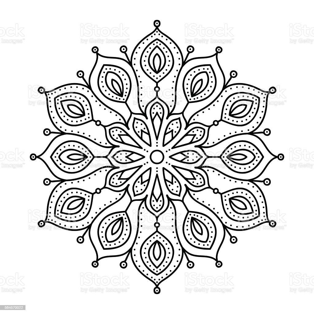 Vector Hand Drawn Doodle Mandala Stock Vector Art Amp More