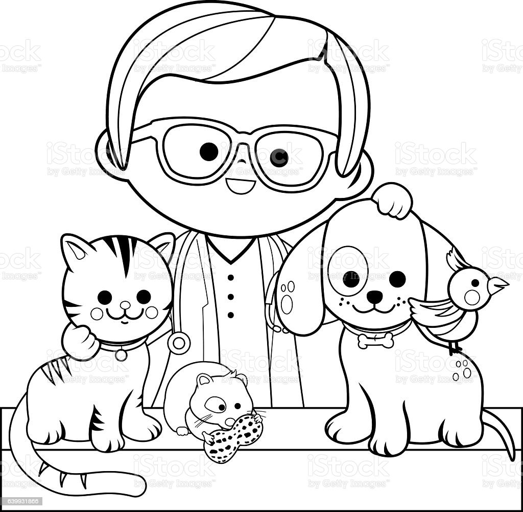 Free Veterinarian Coloring Pages Veterinarian Hospitals Of