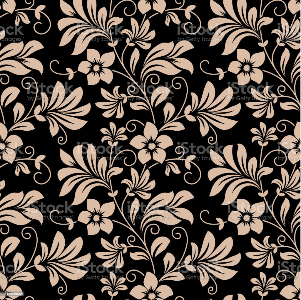 Vintage Floral Wallpaper Seamless Pattern Stock Illustration Download Image Now Istock
