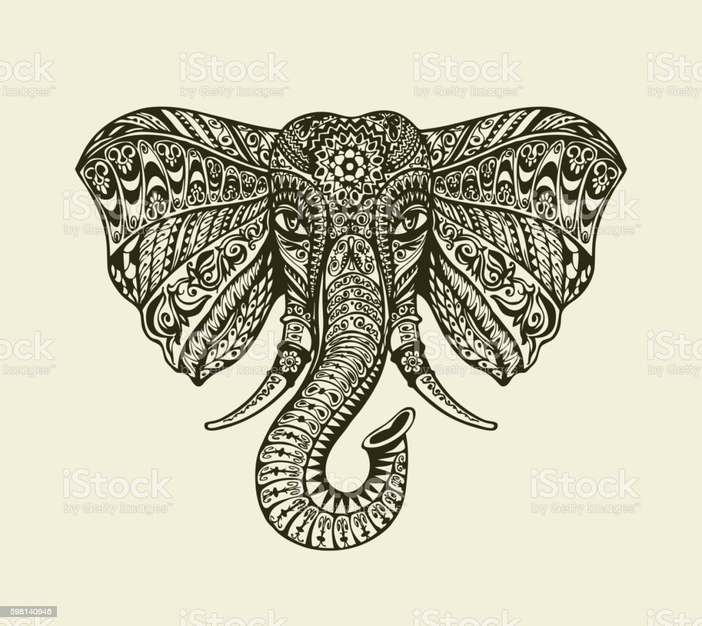 Indian Elephant Template