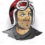 Vintage Motorcycle Helmet Cafe Racer Man Stock Illustration Download Image Now Istock