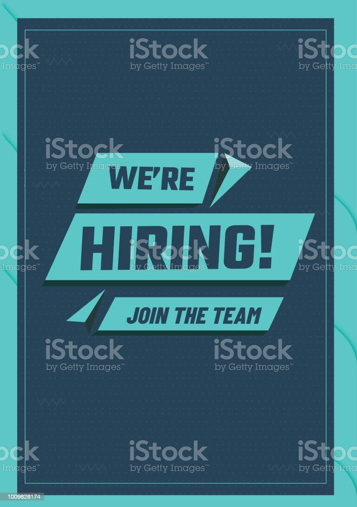we are hiring poster or flyer design advertisement concept template for job recruitmentwe are hiring poster or flyer design advertisement concept template for job recruitment stock illustration download image now istock