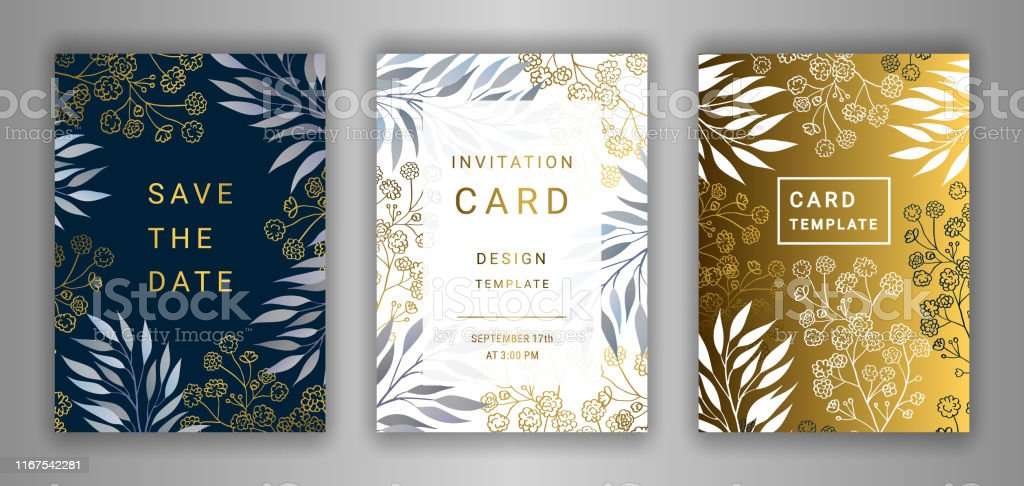 wedding invitation card template set stock illustration download image now istock