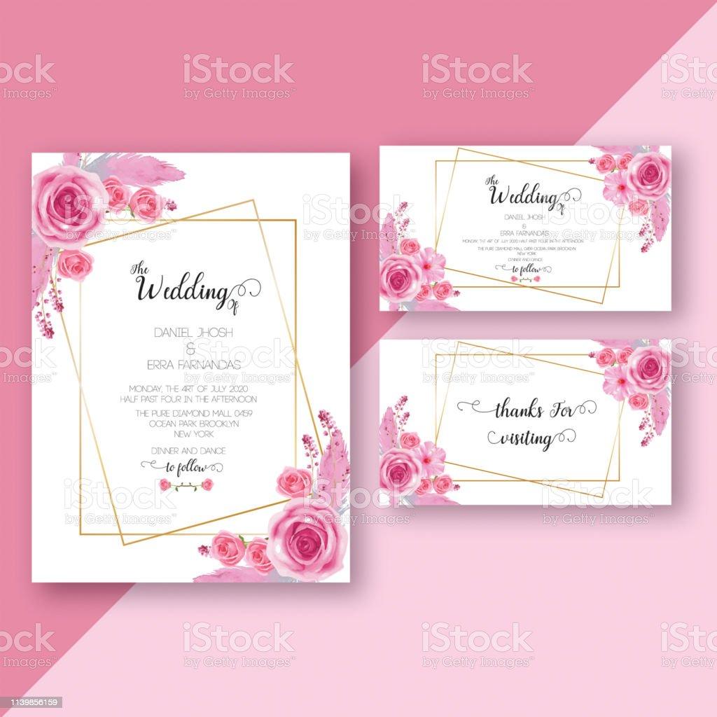 wedding invitation card template stock illustration download image now istock