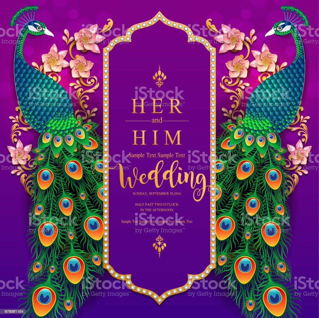 wedding invitation card templates with gold patterned and crystals on paper color background stock illustration download image now istock
